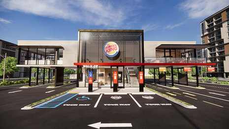 Take a look at Burger King's new 'touchless' restaurant designs with solar panels and outdoor seating